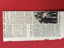 m2t ephemera 1967 football article shelbourne united joe haverty leaving