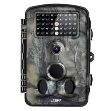Leshp Game and Trail Camera 12Mp 1080P Hd With Time Lapse 65ft 120 deg Infrared