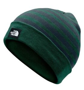 NWT The North Face Recycled Cuff Beanie; Night Green/ Urban Navy; OS