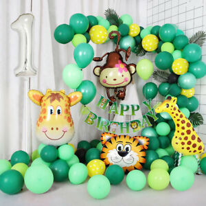 Jungle Themed 1st Birthday Balloon Arch Decoration DIY Kit - Over 75 Balloons
