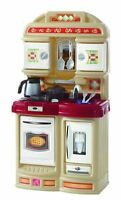 Kitchen Playset 21 pc Realistic Step2 Cozy  Sink Faucet Stove Oven DEAL New