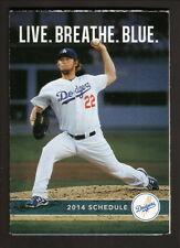 Clayton Kershaw-2014 Los Angeles Dodgers Pocket Schedule-Sports Authority