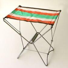 Siège de camping Pliable - Chaise toile rose et vert  - Pêche Vintage - Pliant