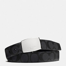 NWT Coach F64828 Heritage Cut-to-Size Signature Coated Canvas Reversible Belt