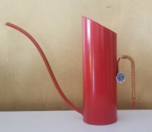 Vintage Mid Century Gunnar Ander Red Watering Can Ystad Metall Sweden