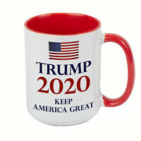 DONALD TRUMP Keep America Great 2020 EXTRA LARGE COFFEE MUG CUP 15 oz RED