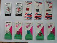 CHEAP Olympic Pins Wenlock Mandeville Team GB 2012 Logo Red Blue Pink Union Jack