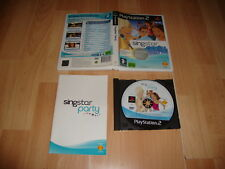 SINGSTAR PARTY PARA LA SONY PLAY STATION 2 PS2 EDICION SIN MICROS USADO COMPLETO