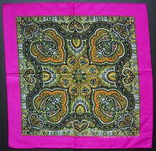 Paisley Style BANDANNA Handkerchief Head Scarf Pink Multi Coloured Neck Scarf