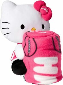 New England Patriots NFL Co Sanrio's Hello Kitty Hugger & Fleece Throw Blanket