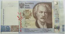 2019 19 zlotych Jan Paderewski Commemorative Banknote Poland Polen UNC