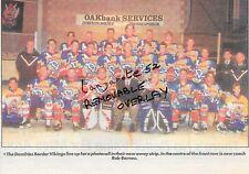Ice Hockey memorabilia Newspaper photo of last Dumfries Border Vikings team 1996