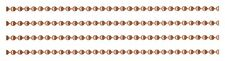 Solid COPPER BALL by-the-Foot CHAIN ~ 2.4mm + one connector per ft