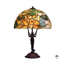 LILIE II / Tiffany-Stil / Tischlampe / 34 cm / Handgefertigtlampe buntglas