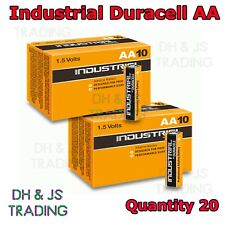 20 Duracell Industrial AA Batteries Alkaline 1.5V LR6 MN1500 Procell Battery AA