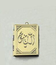 Antiqued Bronze Religious Allah 35mm Book Photo Picture Locket Pendant