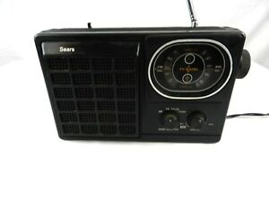 Vintage Sears Radio Solid State Portable Go Anywhere TV AM/FM Model 564