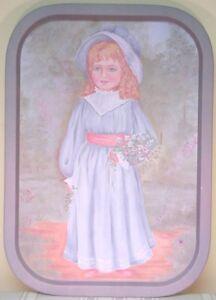 """TENDER HEART TREASURES """"BLUE LADY"""" 11 x 16 TRAY (1988)"""