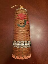 Rare Vintage Wicker/Rattan Bell that Rings appr 10""