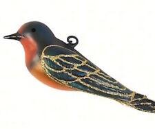 Cobane Hand Blown Glass Barn Swallow Bird Christmas Tree Ornament