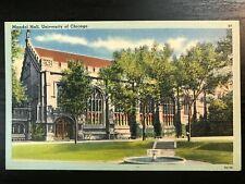 Vintage Postcard>1930-1945>Mandel Hall>University of Chicago>Illinois