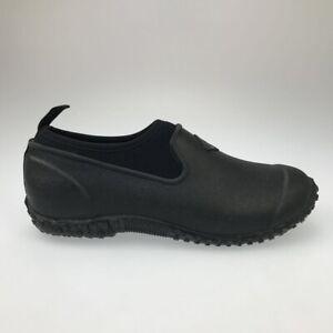 Muck Boots Womens Muckster II Gardening Clog Shoes Black Waterproof Slip Ons 8