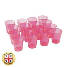 8 16 40 80 Plastic Wine Neon Pink Glasses Disposable Party Celebrate Cheap!