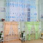 Rideau Fils Voilage Fenêtre Voile Fleur Décor Maison Porte Salle Bain Chambre NF