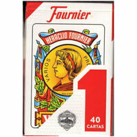 Heraclio Fournier Spanish No. 1 Playing Cards - 1 SEALED DECK (40 Cartas)(Red)