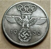 WW2 GERMAN COLLECTORS COIN OLYMPIA 1936 REICHSMARK