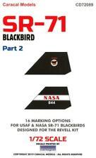 Caracal Decals 1/72 LOCKHEED SR-71 BLACKBIRD Part 2