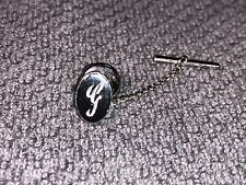 Silver Initial G Tie Clip Pin Clasp Simple And Classy From An Estate Sale E-11