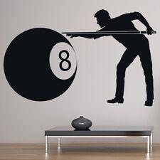 Giocatore di stagno Black 8 Ball Adesivo Murale WS-19378