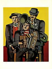 "1976 Vintage FERNAND LEGER ""THREE MUSICIANS"" FABULOUS COLOR offset Lithograph"