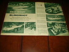 1960 SANGER SPEED BOAT SUPERCHARGED CADILLAC ENGINE ***ORIGINAL ARTICLE***
