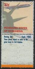 Boeing 707 AVION AVION AVIONS mint stamp & étiquette (1999 Micronésie)
