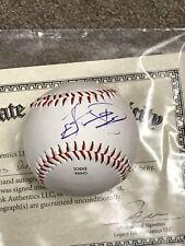 Lucas Duda Hand Signed Autographed Baseball Kansas City Royals **COA-LIA