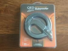 QED Performance Subwoofer Cable 3 meters (9.8 Feet) Brand New & Factory Sealed.