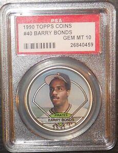 PSA 10 GEM MINT 10 - Barry Bonds 1990 Topps Coins Card Pittsburgh Pirates