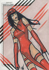 Marvel Fleer Retro 2015 Sketch Card Elektra Sketch by Dijana Granov