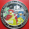 1996 SAHARAWI 1000 PESETAS 1oz SILVER PROOF COLORED PIRATES SHIP BIG COIN 45mm