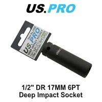 US PRO 17mm 1/2 Dr 6 Point Deep Impact Socket 2088