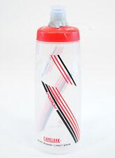 CAMELBAK PODIUM BICYCLE WATER BOTTLE 24oz BPA FREE, Clear/Red/Black