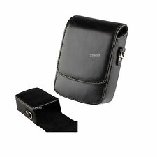 14B noir learther camera case pour Canon IXUS 285 180 175 G9X G7X Mark II