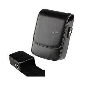 Black PU Learther Camera Case For PANASONIC Lumix DMC-TZ100EB-K,DC-TZ90EB-S
