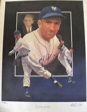 "CARL HUBBELL SIGNED LARGE LTD ED PRINT APPROX 18x24"" COA CHRISTOPHER PALUSO"