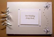 Personalizado De Marfil Mariposas wedding/christening/birthday invitado o álbum de fotos