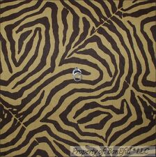 BonEful Fabric FQ Cotton Decor Brown African Wild Jungle Animal Skin Print Zebra