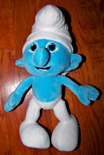"SMURFS 11"" Soft Plush Blue & White Smurf Stuffed Animal Toy"