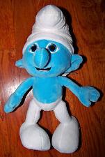 "SMURFS 11"" Soft Plush Blue & White Smurf Stuffed Animal Toy"